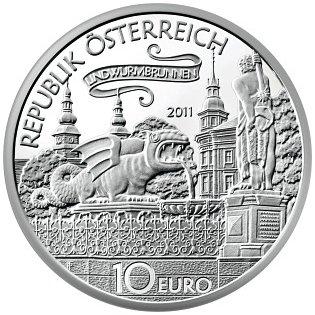 Srebrne monety kolekcjonerskie 10 Euro Opowieści i legendy Austrii