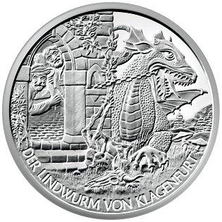 Srebrne monety kolekcjonerskie o 10 Euro Opowieści i legendy Austrii
