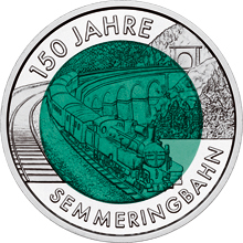 25 Euro, 150 lat alpejskiej kolei Semmering, 2004