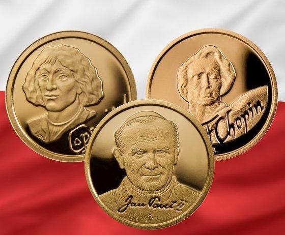 Złote monety - Kolekcja Sławni Polacy - www.numizmatyczny.pl