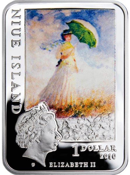 www.numizmatyczny.pl 1 dolar, Malarze Świata - Claude Monet (1840-1926), 2010