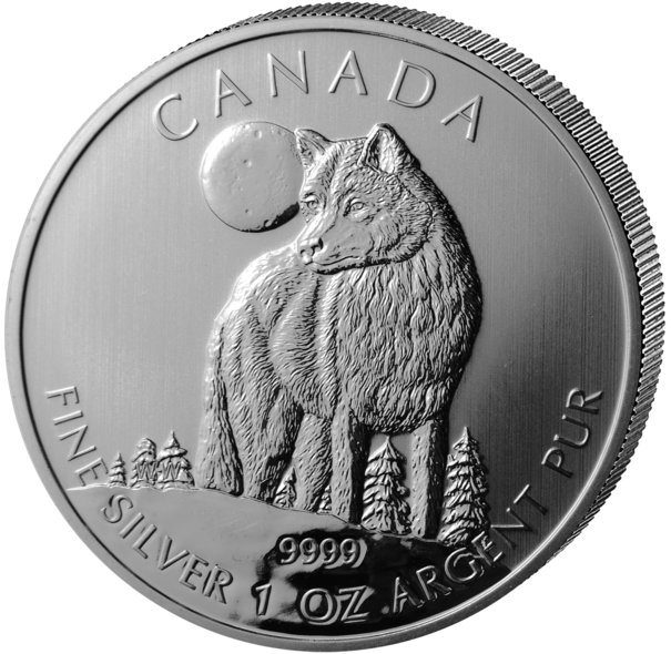 Canadian Wolf Silver Coin