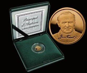 Złote monety 2 D, Papież Jan Paweł II (1920-2005), 2010 numizmatyka