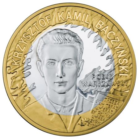 10 zł, 65. rocznica Powstania Warszawskiego - poeci warszawscy - K. K. Baczyński, 2009