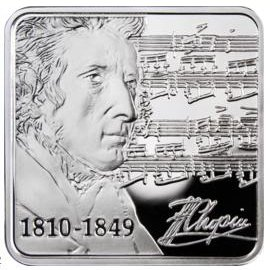1 $, Fryderyk Chopin - 200. rocznica urodzin (1810-1849), 2010 www.numizmatyczny.pl