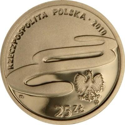 Złota moneta 25 zł, 25. rocznica powstania Trybunału Konstytucyjnego, 2010