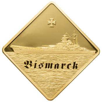 Złota moneta kolekcjonerska Bismarck o niskim nakładzie 77 szt.!