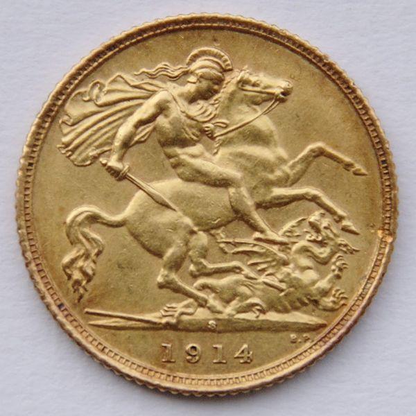 złota moneta lokacyjna suweren gold coin sovereign