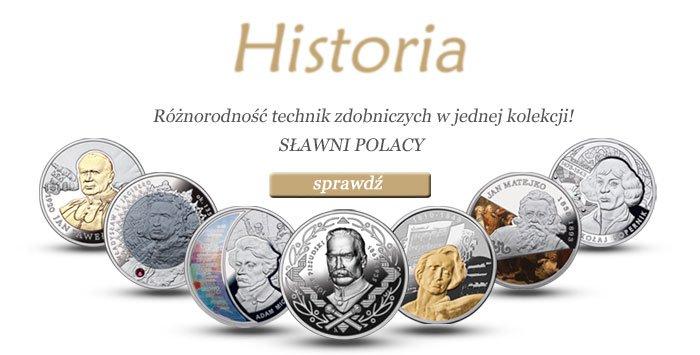srebrna kolekcja Sławni Polacy