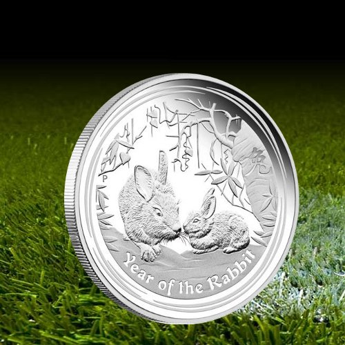 50 cents, Srebrna moneta lokacyjna Rok Królika 1/2 oz, 2011 www.numizmatyczny.pl