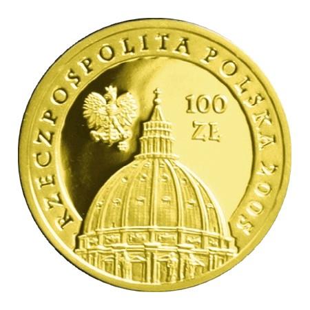 Jan Paweł II 1920 - 2005 10zł Au