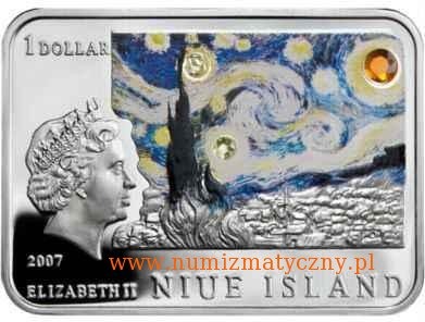 www.numizmatyczny.pl 1 dolar, Malarze Świata - Vincent van Gogh (1853-1890), 2007