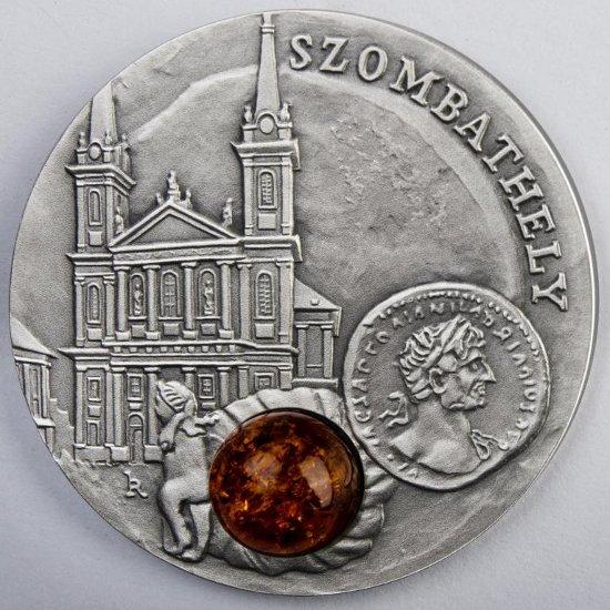 Szlak bursztyniwy moneta srebrna Szombathely