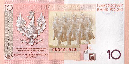 10 zł, Banknot kolekcjonerski - 90. rocznica odzyskania niepodległości, 2008