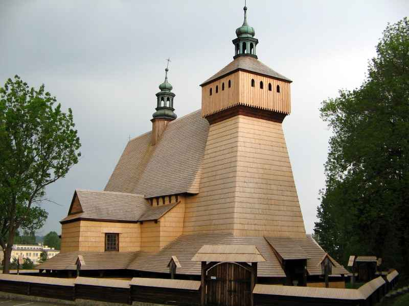 Srebrna moneta Zabytki kultury materialnej w Polsce - Kościół w Haczowie