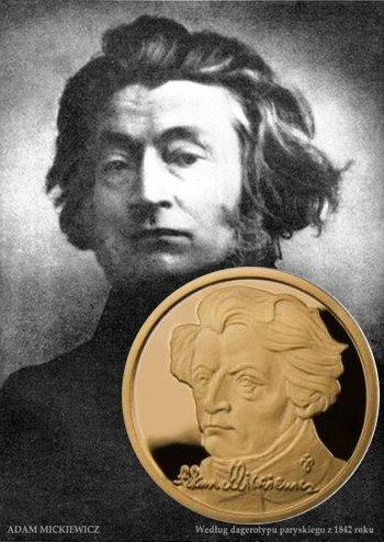 Złote monety - Kolekcja Sławni Polacy - Adam Mickiewicz