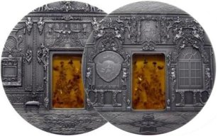 10 dollars, Mineral Art - The Amber Chamber of Saint Petersburg / Bursztynowa Komnata, 2009