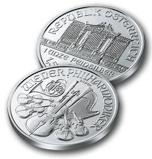 srebrne monety Wiedeńscy Filharmonicy / Wiener Philharmoniker