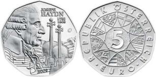 5 Euro, Joseph Haydn (1732-1809), 2009