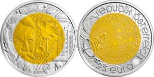 25 Euro, Międzynarodowy Rok Astronomii 2009 - srebrna moneta z niobem, 2009