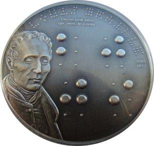 5 dolarów, Louis Braille (1809-1852) - 200. rocznica urodzin, 2009