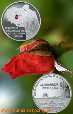 10 zł, 25. rocznica śmierci Księdza Jerzego Popiełuszki, 2009