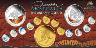 5 x 1 dolar, Odkryj Australię - Dreaming - srebro (5 x 1 oz), 2009