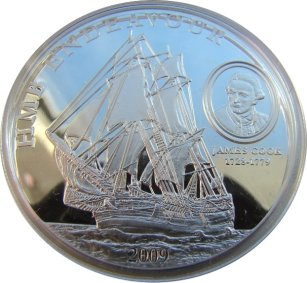 5 Dollars, HMB Endeavour of James Cook, 2009