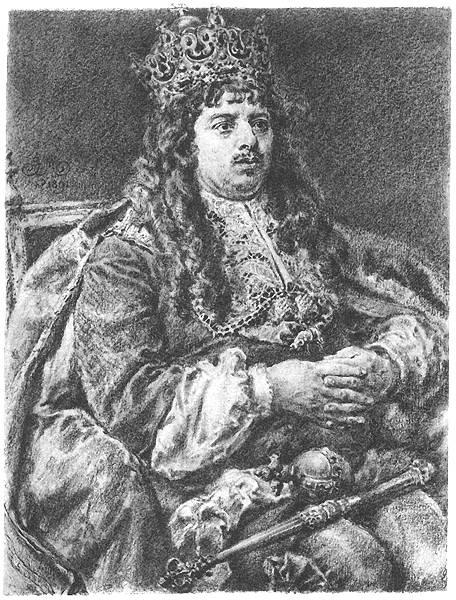 Koronowani Królowie Polski - Michał Korybut Wiśniowiecki, obraz Jana Matejki