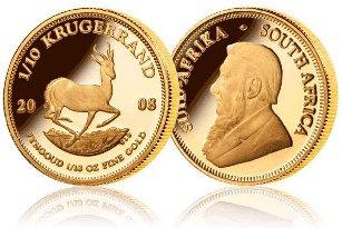 Złota moneta bulionowa Krugerrand 1 oz www.numizmatyczny.pl