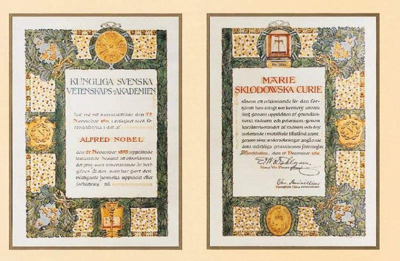 dyplom Marii Curie-Skłodowskiej