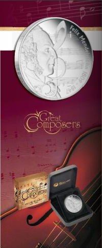 1 dolar, Wielcy Kompozytorzy - Felix Mendelssohn-Bartholdy (1809-1847), 2009