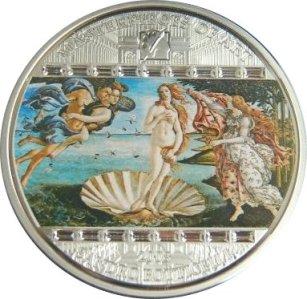 20 dollars, Arcydzieła sztuki - Ars Vaticana - Sandro Botticelli - Narodziny Wenus (1484-1486), 2008