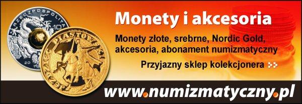 Złote i srebrne monety dla numizmatyka