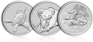 Srebrne monety lokacyjne z Australii