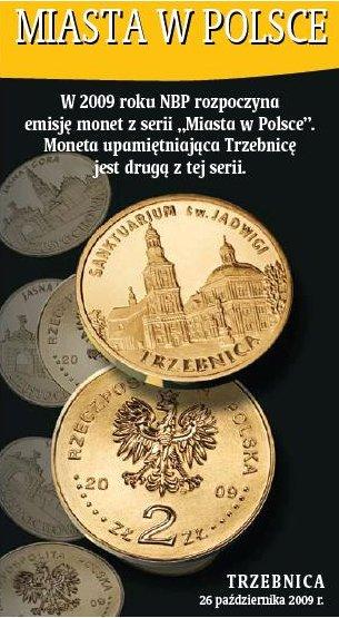 2 zł, Miasta w Polsce - Trzebnica - Sanktuarium św. Jadwigi, 2009