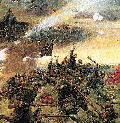 Jerzy Kossak obraz Cud nad wisłą 20 zł, 90. rocznica Bitwy Warszawskiej, 2010