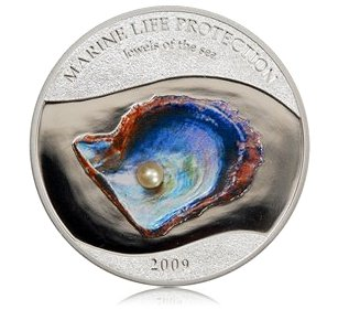 5 dolarów, Marine life protection - Jewels of the sea - pearl / Klejnoty morza - perła, 2009