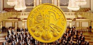 złote monety Wiedeńscy Filharmonicy / Wiener Philharmoniker