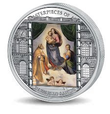 20 dollars, Arcydzieła sztuki - Ars Vaticana - Rafael Santi - Madonna Sykstyńska (1513), 2009