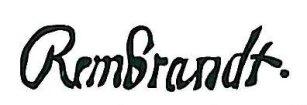 Rembrandt autograf