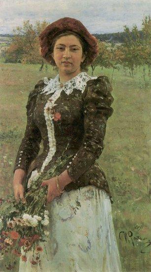Ilja Jefimowicz Repin (1844-1930) - obraz Bukiet (1892)