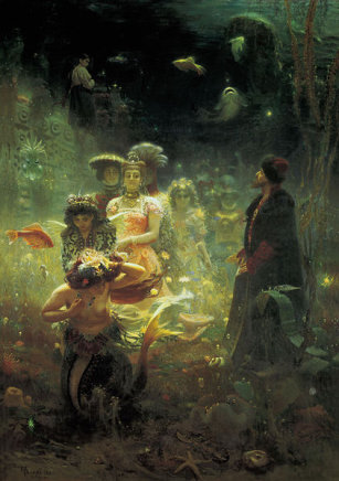 Ilja Jefimowicz Repin (1844-1930) - obraz Podwodne Królestwo (1876)