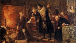 Alchemik Michał Sedziwój, obraz Jana Matejki