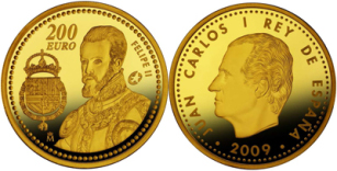 200 Euro, Program Europa 2009 - Król Filip II (1556-1598), 2009
