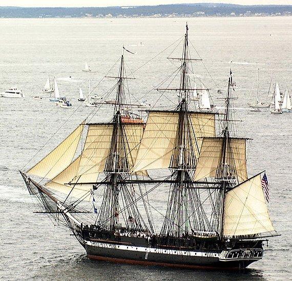 srebrna moneta Żaglowce - Sailing Ships - USS Constitution