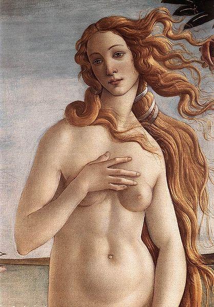 Fragment obrazu Narodziny Wenus autorstwa Sandro Botticellego