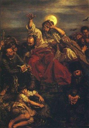 Wernyhora - Jan Matejko, 1882, olej na płótnie, 290 × 204 cm, Zamek Królewski w Niepołomicach