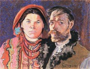 20 zł, Polscy Malarze XIX/XX w.: Stanisław Wyspiański (1869-1907), 2004, Stanisław Wyspiański, Portret artysty z żoną (1904)
