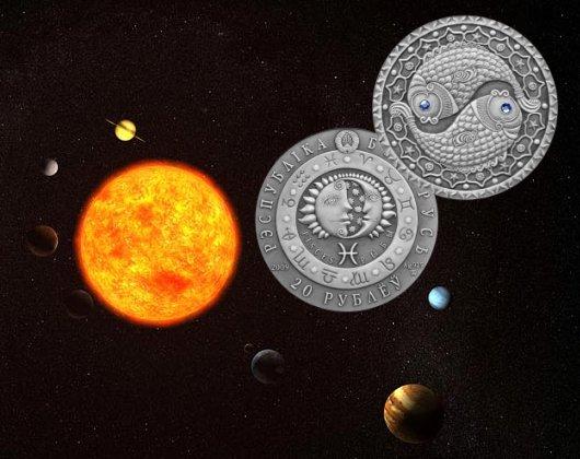 20 rubli, Znaki zodiaku - Ryby / Pisces (19.02-20.03), 2009